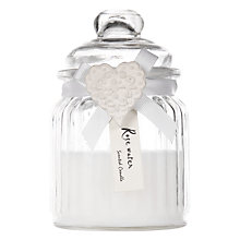 Buy John Lewis Rosewater Heart Glass Candle Jar Online at johnlewis.com