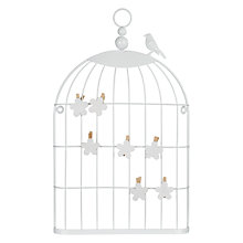 Buy John Lewis Birdcage Memo Holder, Cream Online at johnlewis.com
