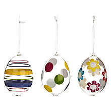 Buy John Lewis Glass Easter Egg Decoration, Assorted Online at johnlewis.com