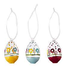 Buy John Lewis Mini Glass Flower Egg Decoration, Assorted Online at johnlewis.com