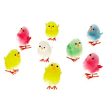 Buy John Lewis Fluffy Chicks, Pack of 12, Multi Online at johnlewis.com