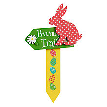 Buy Bunny Trail Arrow Easter Egg Hunt Sign, Small Online at johnlewis.com