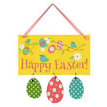 Buy Happy Easter Egg Hunt Sign Online at johnlewis.com