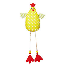 Buy Big Decs Spot Dangly Chick Hanging, Yellow Online at johnlewis.com