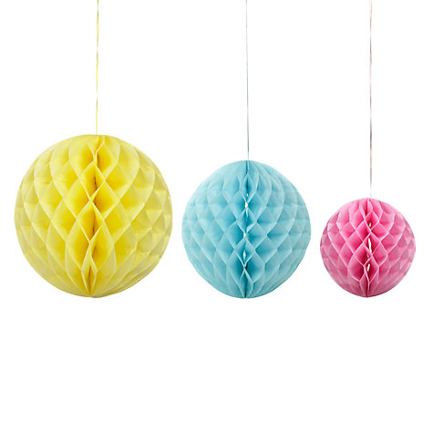 Buy Talking Tables Hanging Honeycomb Decorations, Pack of 3 Online at johnlewis.com