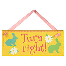 Buy Turn Right Easter Egg Hunt Sign, Small Online at johnlewis.com