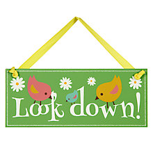 Buy Look Down Easter Egg Hunt Sign, Small Online at johnlewis.com