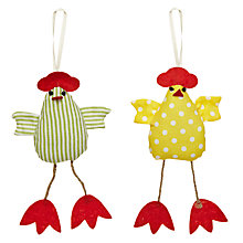 Buy Big Decs Hanging Hen Decoration, Assorted Online at johnlewis.com