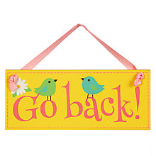 Buy Go Back Easter Egg Hunt Sign, Small Online at johnlewis.com