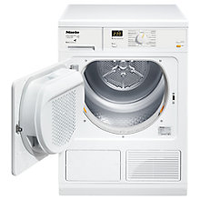 Buy Miele T8164 Heat Pump Tumble Dryer, 7kg Load, A+ Energy Rating, White Online at johnlewis.com