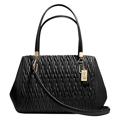Buy Coach Madison Madeline East/West Gathered Leather Satchel Bag Online at johnlewis.com