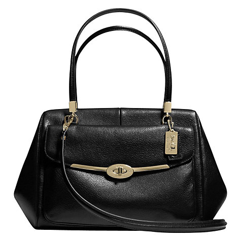 Buy Coach Madison Madeline East/West Leather Satchel Bag Online at johnlewis.com