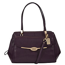 Buy Coach Madison Madeline East/West Leather Satchel Handbag Online at johnlewis.com