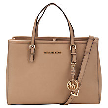 Buy MICHAEL Michael Kors Jet Set Travel Medium Tote Bag, Khaki Online at johnlewis.com