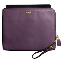 Buy Coach Legacy Zip iPad Sleeve, Violet Online at johnlewis.com