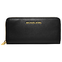 Buy MICHAEL Michael Kors Jet Set Travel Leather Zip Around Continental Purse Online at johnlewis.com
