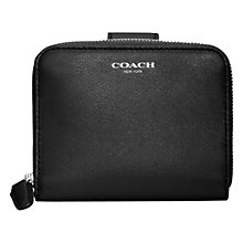 Buy Coach Legacy Medium Zip Around Purse, Black Online at johnlewis.com