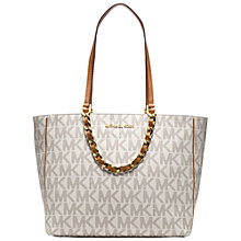 Buy MICHAEL Michael Kors Harper Large East/West Leather Tote Handbag Online at johnlewis.com