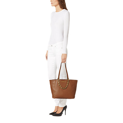 Buy MICHAEL Michael Kors Harper Large East/West Leather Tote Bag Online at johnlewis.com