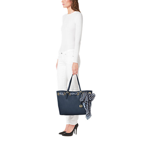 Buy MICHAEL Michael Kors Jet Set Small Leather Tote Bag with Scarf Online at johnlewis.com