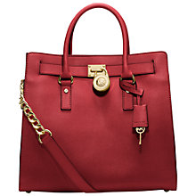 Buy MICHAEL Michael Kors Hamilton 18K Large Leather North/South Tote Handbag Online at johnlewis.com