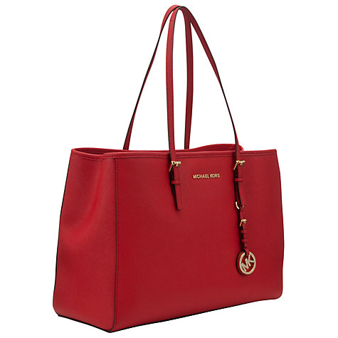 Buy MICHAEL Michael Kors Jet Set Travel Tote, Red Online at johnlewis.com