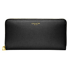 Buy Coach Accordion Zip Leather Wallet Online at johnlewis.com