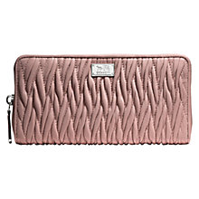 Buy Coach Madison Accordian Zip Gathered Twist Leather Wallet Online at johnlewis.com