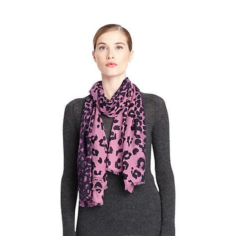 Buy Coach Ocelot Oblong Scarf Online at johnlewis.com