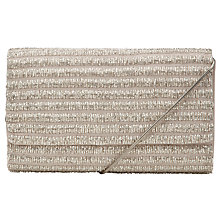 Buy John Lewis Mary Beaded Clutch Handbag, Silver Online at johnlewis.com