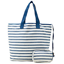 Buy Collection WEEKEND by John Lewis Mono Stripe Tote Bag, Navy Online at johnlewis.com