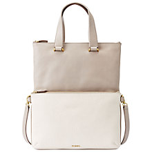 Buy Fossil Memoir Anthology Foldover Tote Leather Handbag Online at johnlewis.com