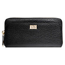 Buy Coach Madison Accoridan Zip Wallet, Black Online at johnlewis.com