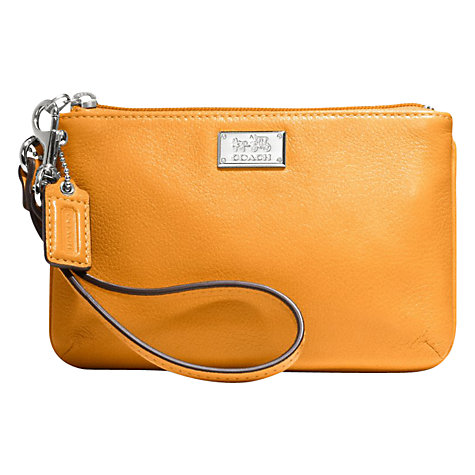 Buy Coach Madison Small Wristlet, Marigold Online at johnlewis.com