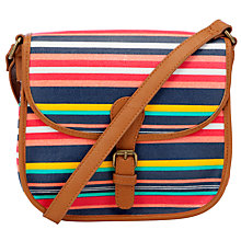 Buy Collection WEEKEND by John Lewis Holiday Stripe Across Body Bag, Stripe Multi Online at johnlewis.com