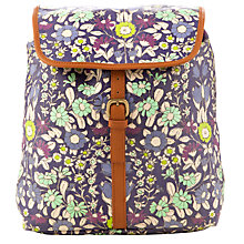 Buy John Lewis Daisychain Print Backpack, Magenta Online at johnlewis.com