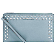 Buy MICHAEL Michael Kors Jet Set Travel Jewelled Large Zipped Clutch Purse Online at johnlewis.com