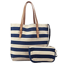 Buy Collection WEEKEND by John Lewis City Canvas Stripe Shopper Bag Online at johnlewis.com