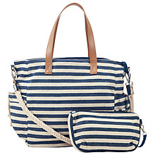 Buy Collection WEEKEND by John Lewis Sailor Stripe Tote Bag, Navy/White Online at johnlewis.com