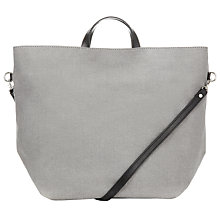 Buy Kin by John Lewis Block Colour Leather Tote Handbag, Grey Online at johnlewis.com
