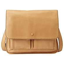 Buy Fossil Abbot 901 Leather Shoulder Handbag, Camel Online at johnlewis.com