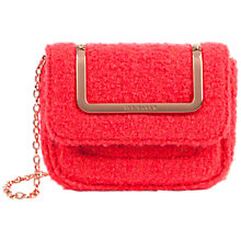 Buy Ted Baker Fillas Mini Boucle Shoulder Bag, Coral Online at johnlewis.com