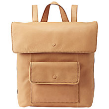 Buy Fossil Abbot Venice Leather Backpack, Camel Online at johnlewis.com