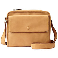 Buy Fossil Abbot Kinney Leather Across Body Handbag, Camel Online at johnlewis.com