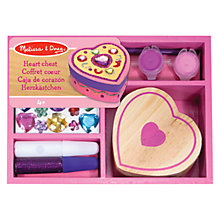 Buy Melissa & Doug Design Your Own Heart Chest Online at johnlewis.com