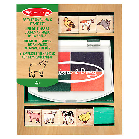 Buy Melissa & Doug Baby Farm Animals Stamp Set Online at johnlewis.com