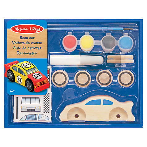 Buy Melissa & Doug Wooden Race Car Craft Kit Online at johnlewis.com