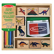 Buy Melissa & Doug Dinosaur Stamp Set Online at johnlewis.com