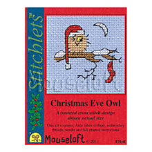 Buy Mouseloft Christmas Eve Owl Cross Stitch Kit with Envelope and Card Online at johnlewis.com