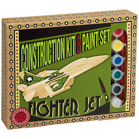 Buy Professor Puzzle Fighter Jet Construction Kit Paint Set Online at johnlewis.com